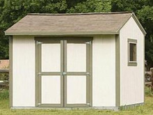 SHED 10 X 8 Paper Patterns BUILD A UTILITY STORAGE GABLE BUILDING Easy DIY Plans