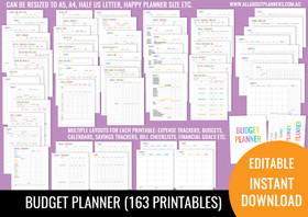 Budget Planner Printables - Rainbow