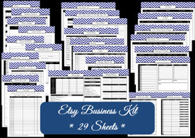 PURPLE - Business Planner - 29 Sheets - INSTANT DOWNLOAD