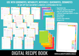 Goodnotes Recipe Book - Digital Planner with Hyperlinked Tabs