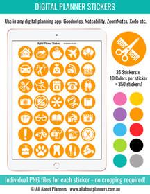 Icon digital planner stickers