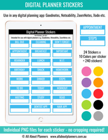 Appointment Label digital planner stickers