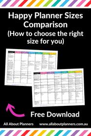Happy Planner Sizes Comparison