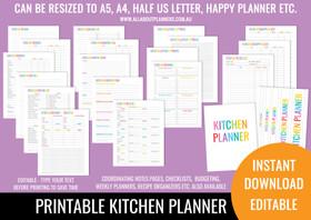 Kitchen Planner Printables - Rainbow