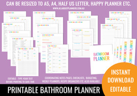 Bathroom Planner Printables - Rainbow