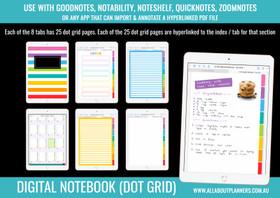 Digital Bullet Journal - 8 Tabs / Subjects