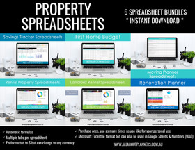 Property Spreadsheets bundle