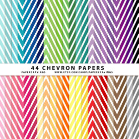 "Chevron Digital Paper Pack 12"" x 12"" (44 colors) INSTANT DOWNLOAD"