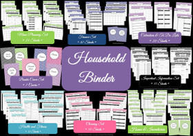Household Binder Multicoloured - EDITABLE - Instant Download