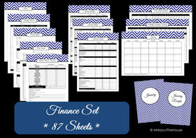 LIGHT BLUE Finance Set - Instant Download