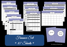 DARK BLUE Finance Set - Instant Download