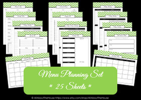 BLACK - Meal Planning - Instant Download