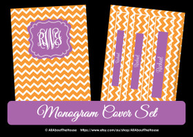 Monogram Binder Cover - Chevron - Style 1