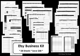 PINK Business Planner - Instant Download