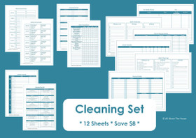 PURPLE - Cleaning Set - Simple Planner Series - Instant Download