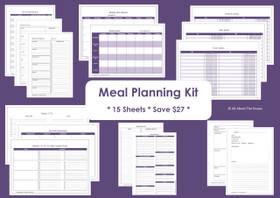 GREEN - Meal Planning - Simple Planner Series - Instant Download