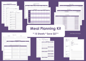 PURPLE - Meal Planning - Simple Planner Series - Instant Download