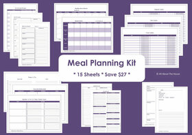 BLACK - Meal Planning - Simple Planner Series - Instant Download
