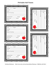 FREE Hall Pass - Teacher Printable