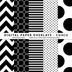 "Digital Paper Overlays - 12"" x 12"" and 8.5 x 11"" (Set 1) INSTANT DOWNLOAD"