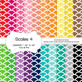 "Scales 4 Digital Paper Pack 12"" x 12"" (20 colors) - INSTANT DOWNLOAD"