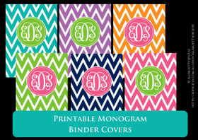 Monogram Binder Cover Set  1 - Chevron
