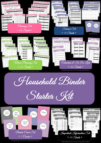 LIGHT BLUE - Household Binder Starter Set - Instant Download