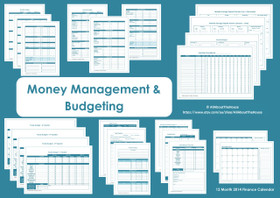 BLUE - Money Management Printables - INSTANT DOWNLOAD