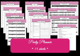 BLACK - Party Planner - Instant Download