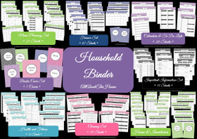 PINK Household Binder - Instant Download