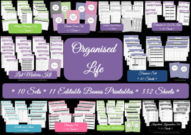 GREEN - Organized Life - Household Binder - Instant Download