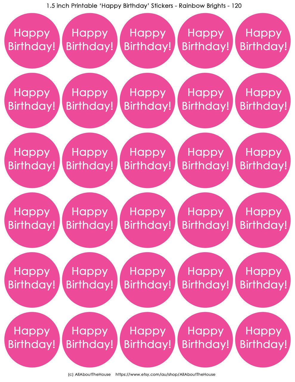 Free Printable Happy Birthday Gift Stickers All About Planners