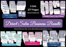 Direct Sales Business Planner Bundle - Multicoloured - EDITABLE - Instant Download