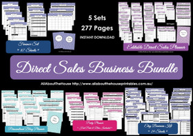Direct Sales Business Planner Bundle - BLACK - EDITABLE - Instant Download