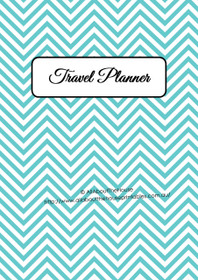 LIGHT BLUE - Travel Planner - EDITABLE - Instant Download