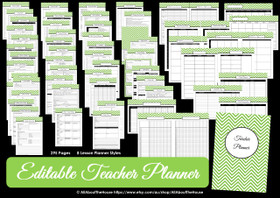 DARK BLUE - EDITABLE - Teacher Planner - Instant Download
