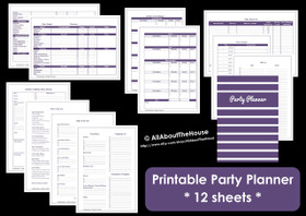 PURPLE - Party Planner - Simple Planner Series - Instant Download