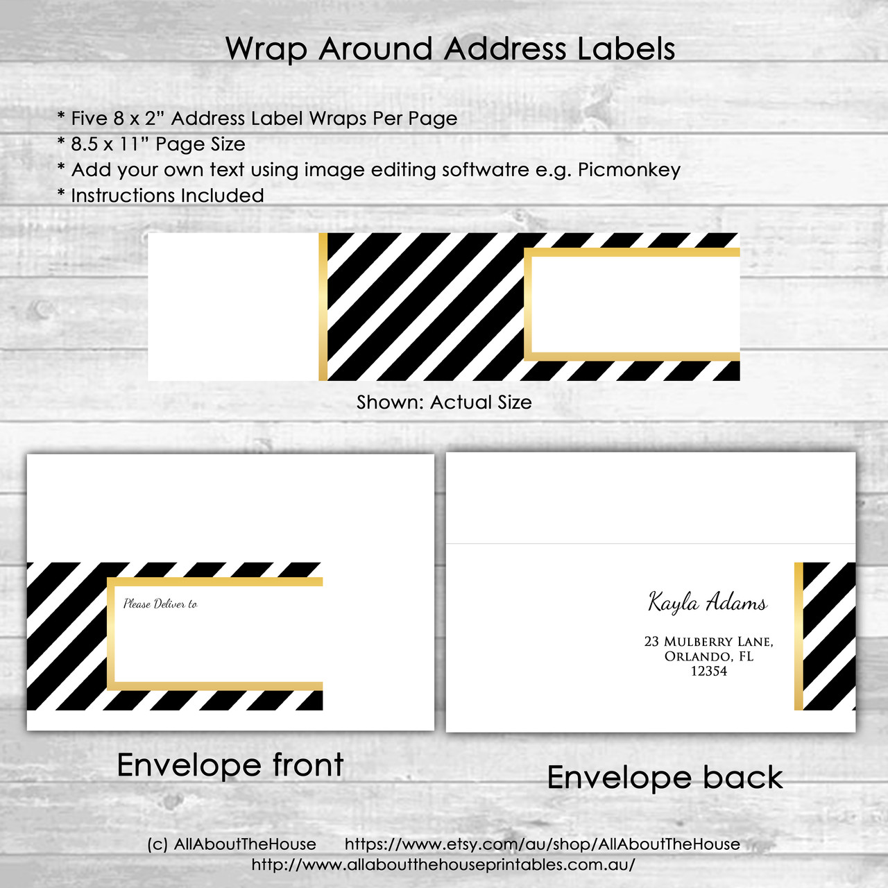 picture regarding Gold Printable Labels referred to as Go over Label Wrap - Metal Gold Black Stripe Printable jpg editable utilizing cost-free graphic modifying software package e.g. Picmonkey - instantaneous down load