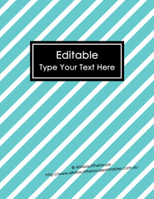 "EDITABLE Binder Cover - Letter Size (8.5 x 11"") - Style 4 - blue (6), black (118)"