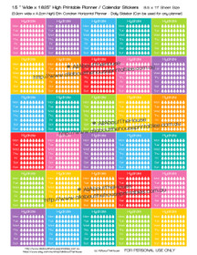 "Hydrate Planners Stickers - Printable - 1.5"" W x 1.625"" H - HDS10"