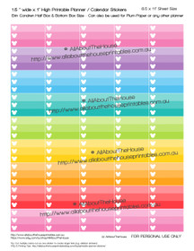 "Mickey List Planners Stickers - ECLP Half Box Printable - 1.5"" W x 1"" H - HB016"