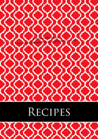 EDITABLE - Recipe Binder & Meal Planning Printables - Red Moroccan Tile