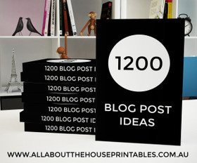 1200 Blog Post Ideas Ebook - INSTANT DOWNLOAD