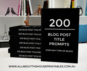 200 Blog Title Prompts Ebook - INSTANT DOWNLOAD