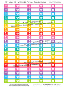 "Student Loan Planner Stickers - 1.5 x 0.5"" - Rainbow - OL130"