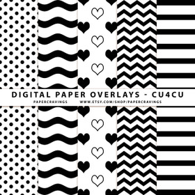 "Digital Paper Overlays - 5 Patterns - 12"" x 12"" and 8.5 x 11"" (Set 8) INSTANT DOWNLOAD"