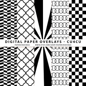 "Digital Paper Overlays - 5 Patterns - 12"" x 12"" and 8.5 x 11"" (Set 9) INSTANT DOWNLOAD"