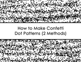 ECOURSE - How to make confetti dot patterns in photoshop