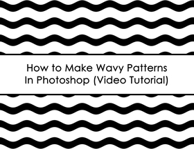 ECOURSE - How to make wavy patterns in photoshop