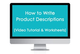 ECOURSE - How to write product descriptions